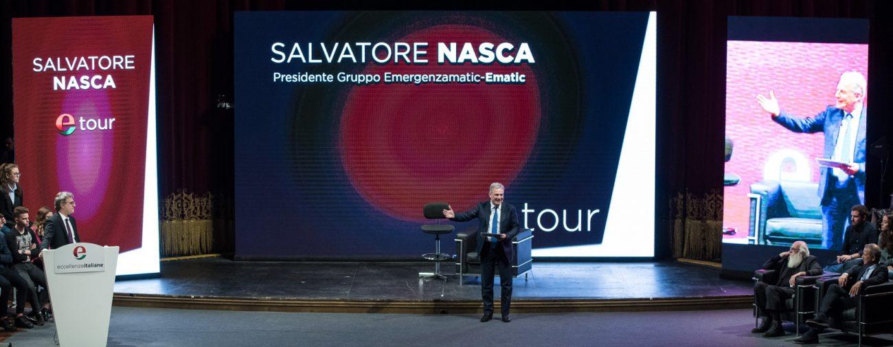 Salvatore Nasca, di Ematic, sul palco di Etour