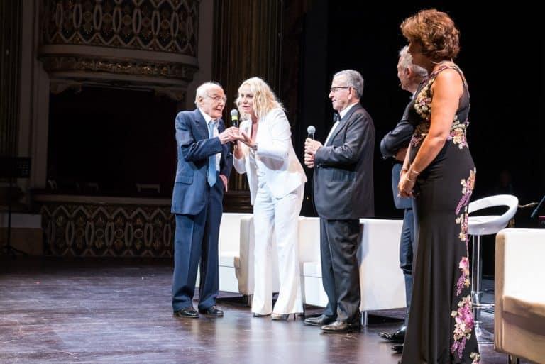 Da sinistra: Tito Stagno, Antonella Clerici, Patrizio Podini, Piero Muscari, Anna Campanile.