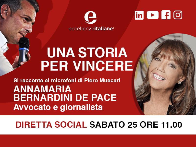 Annamaria Bernardini De Pace: una storia per vincere! Viaggio alla fine degli amori…Live sabato 25 Aprile, ore 11.00. Seguimi sui social.