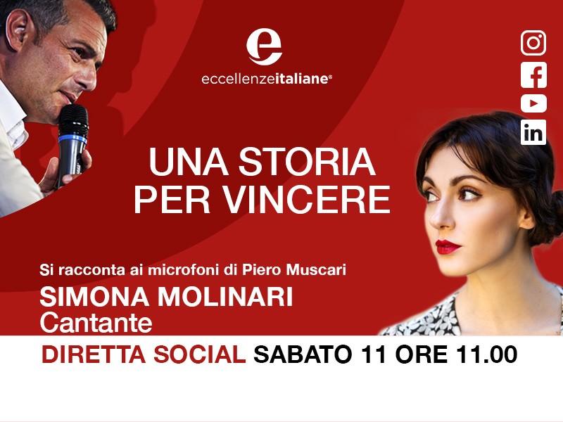 Simona Molinari: una storia per vincere! Una storia per imparare! Live Sabato 11 Aprile.