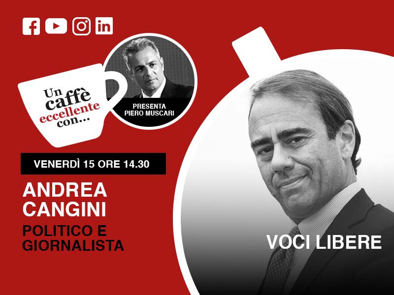 """Andrea Cangini è mio ospite nella puntata live """"un caffè eccellente"""" del 15 Maggio"""