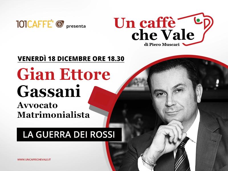 Un caffè che vale con Gian Ettore Gassani. Puntata del 18 Dicembre 2020.