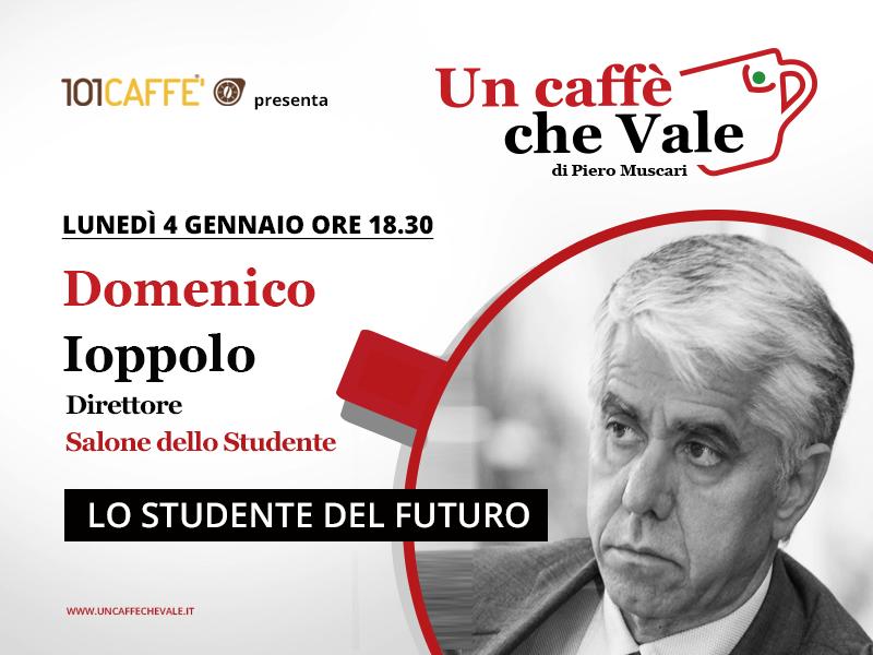 Domenico Ioppolo è l'ospite della puntata un caffe che vale di lunedì 4 Gennaio