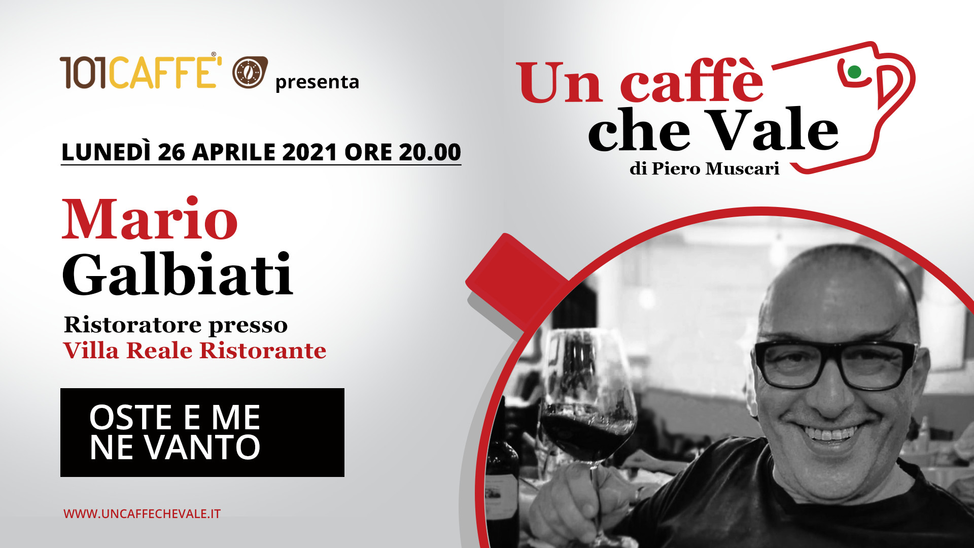Un caffè che vale con Mario Galbiati